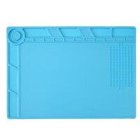 35 25CM 500 Degree Resistance Heat Insulation Silicone Pad Desk Mat Maintenance Platform For Soldering Working