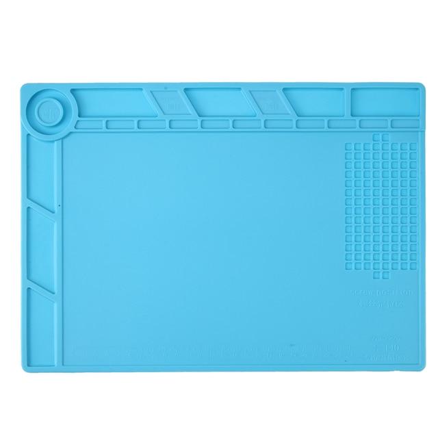 Insulation Silicone Pad 35*25cm 500 Degree Temperature Resistance Heat Desk Mat Maintenance Platform for Soldering Working