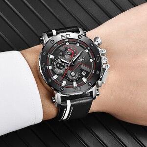 Image 5 - 2019 LIGE yeni erkek saatler Top marka lüks büyük arama askeri ordu quartz saat moda rahat su geçirmez İş İzle erkekler