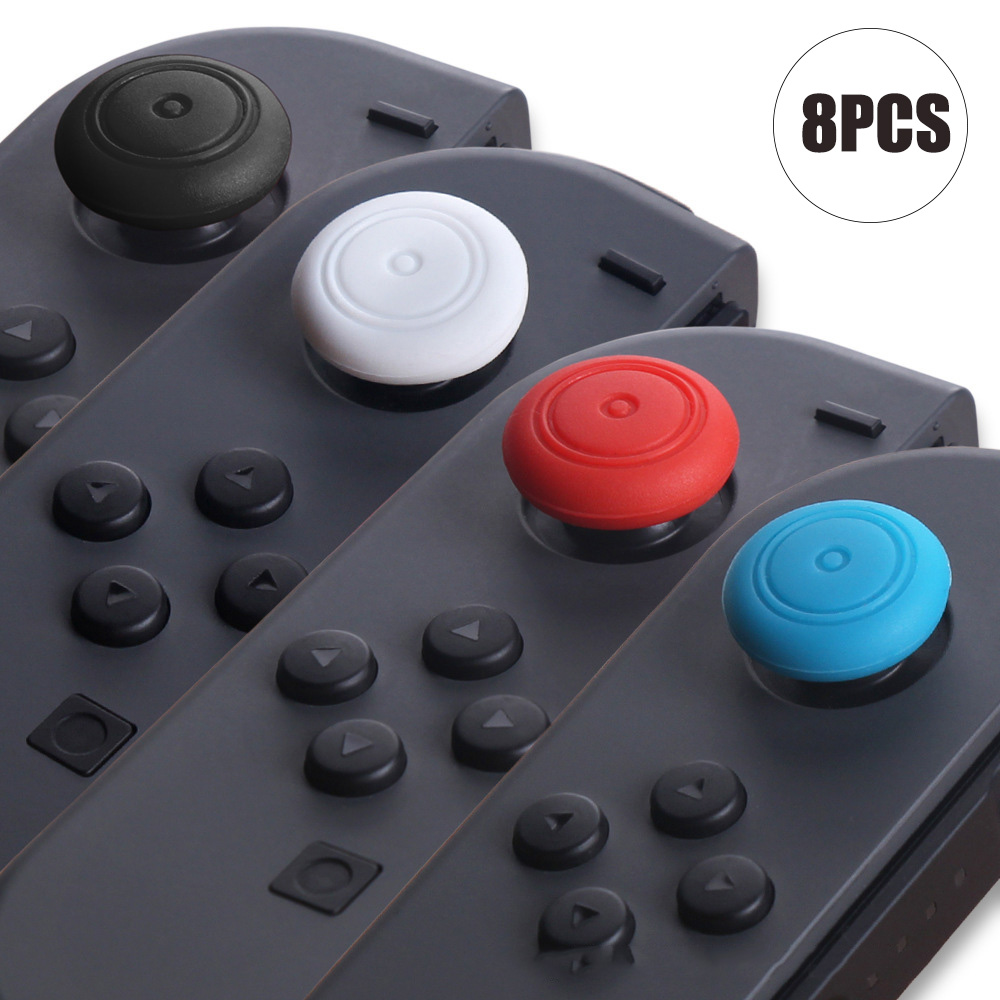 8PCS Replacement Silicone Thumbsticks Joystick Cap Cover For Nintend Switch Controller Protection Silicone Stick Caps For Joycon