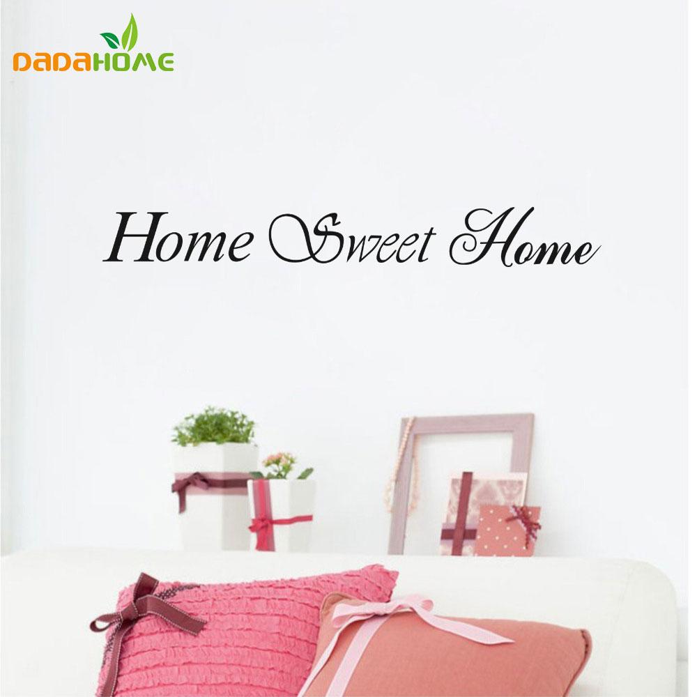 Geräumig Wandtattoo Home Sweet Home Dekoration Von Vinyl Aufkleber Aufkleber Wanddekor Quote Auf Aufkleber