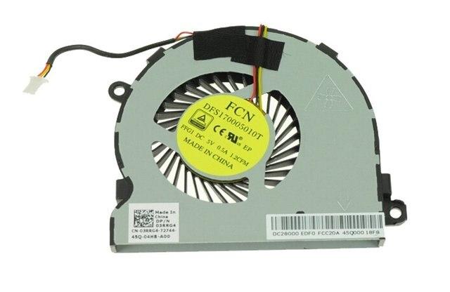 Nuevo ventilador de la CPU Para Dell Inspiron 15R 15 5547) 15mr-1528s 5000 14MD-1628S CPU FAN P/N 03RRG4 3RRG4 AB07005HX080300 dc28000eda0