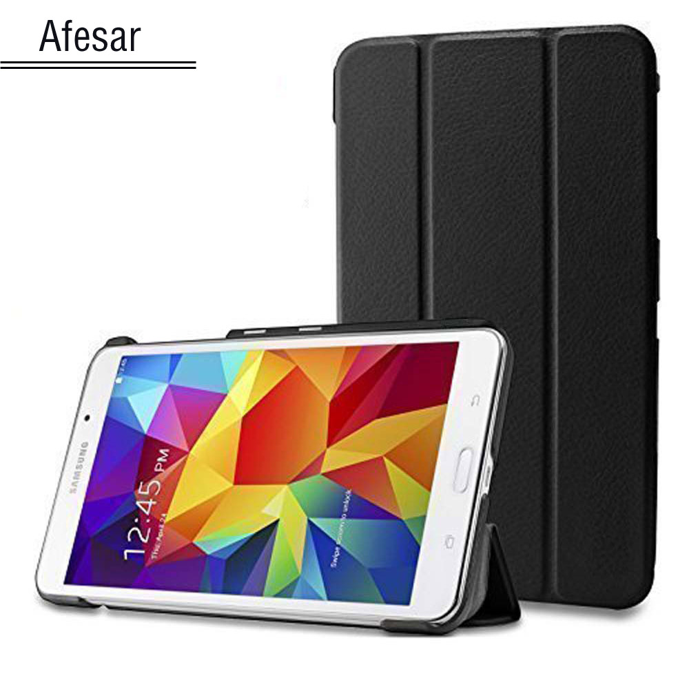 sm-T230 T231 T235 T239 Tab 4 VE 7.0 smart Case Ultra Slim Lightweight Smart shell Cover Stand for samsung galaxy tab 4 7.0 case cartoon painted flip silicon leather case for samsung galaxy tab 4 7 0 t230 t231 t235 sm t230 case cover tablet funda shell