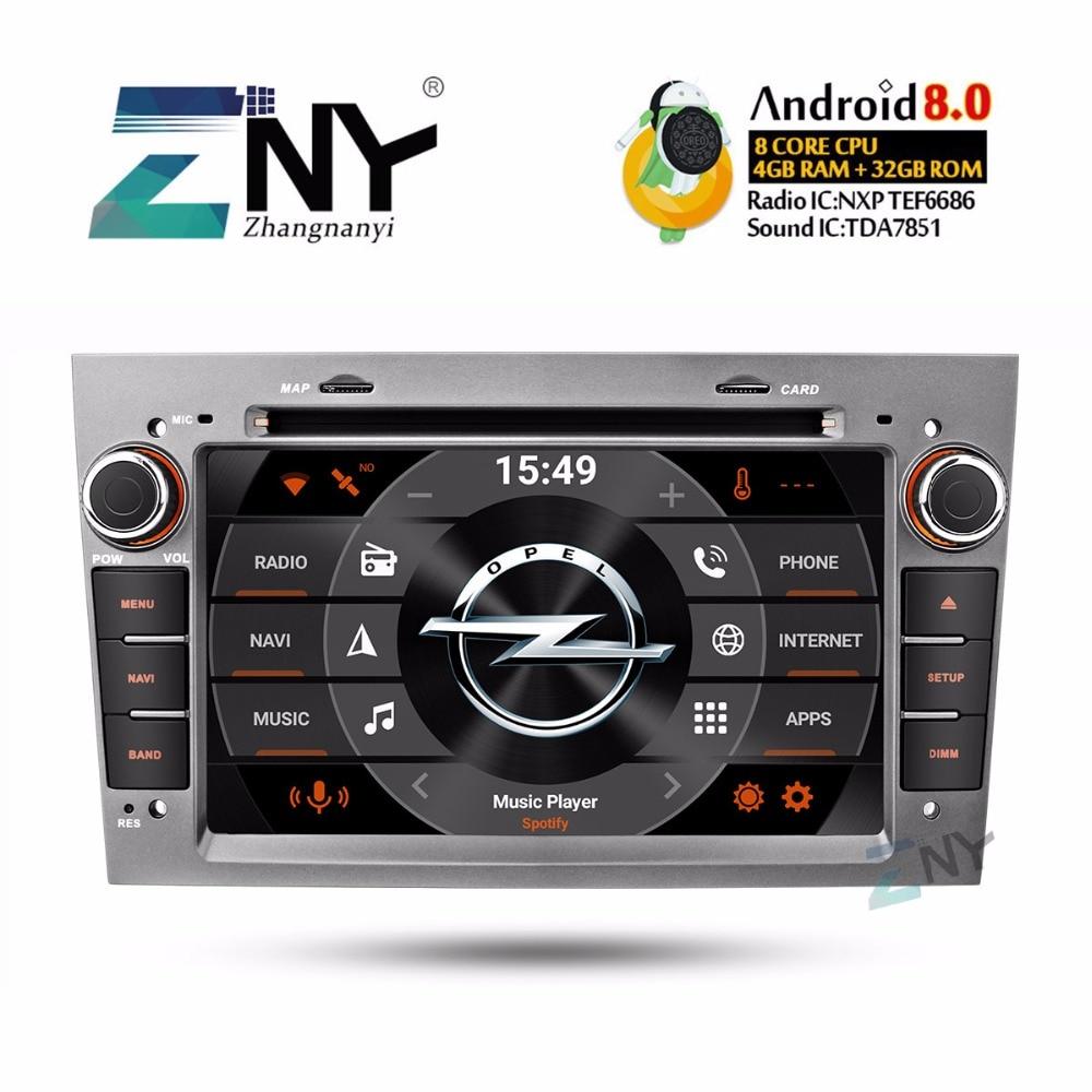 7 IPS Android 8.0 Voiture DVD 2Din Autoradio Pour Opel Vauxhall Astra Corsa Vivaro Antara Zafira Meriva Vectra GPS navigation 4 + 32 GB
