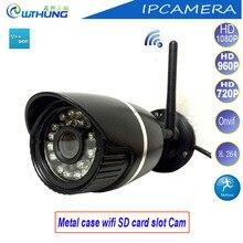 Ip-камера Wi-Fi проводной Пуля Металл HD 720 P 960 P 1080 P CMOS Сенсор Поддержка onvif2.0 sd-карта детектор движения для видеонаблюдения