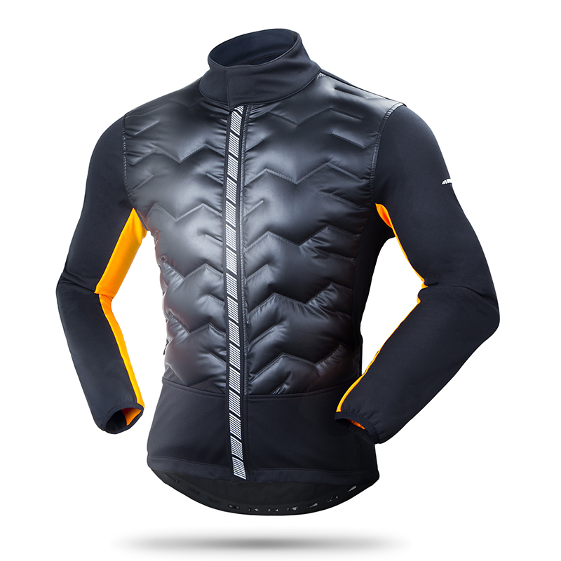 Winter Bicycle Jacket Windproof Outdoor Sport Running Climbing Fishing Camping Down Clothes Men s Cycling Bike