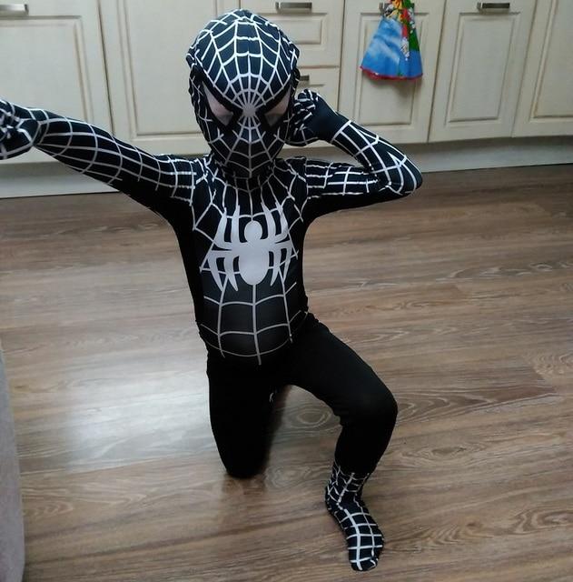 2017 NEW Black Spiderman Costume Spider Man Suit Spider-man Costumes Adults Children Spider-Man Cosplay Clothing Venom Spiderman