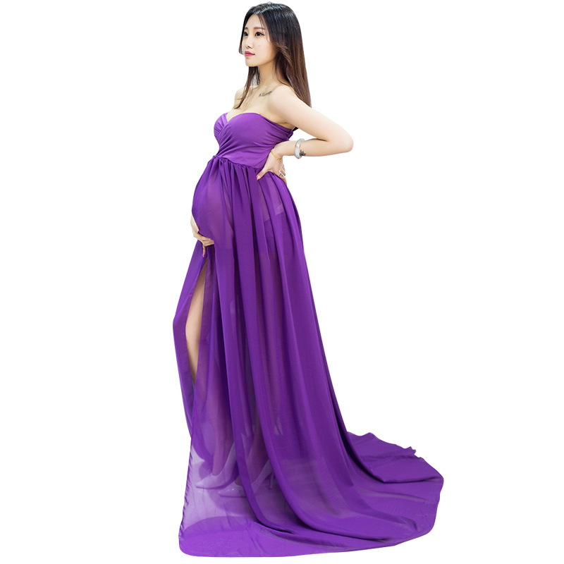 f420fc3cb5e7c SMDPPWDBB Maternity Photography Props Black Women Elegant Pregnancy Clothes  Maternity Dresses For pregnant Photo Shoot Clothing-in Dresses from Mother  ...