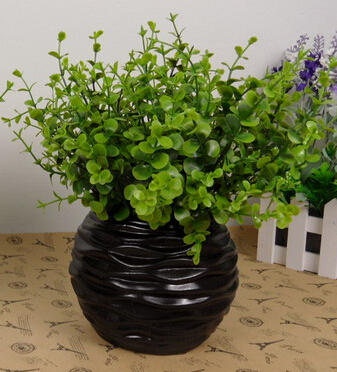 Largeu0026Small White And Black Round Ripple Spiral Ceramic Flower Vase  Flowerpot Decoration European Style Free Shipping