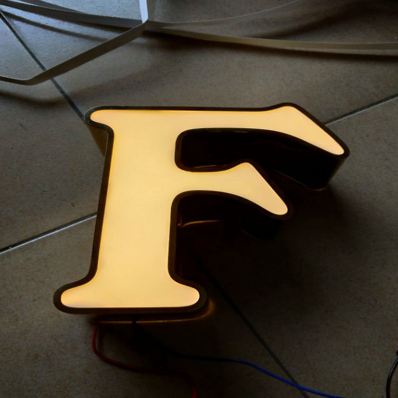 Indoor 3D LED Acrylic custom made sign shop name board image