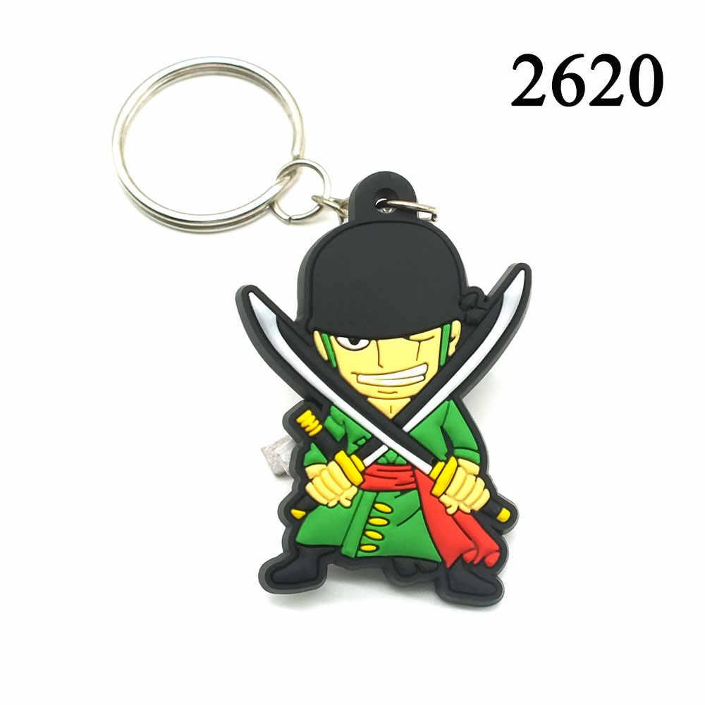 Мультяшный Луффи брелок с символикой Наруто животного из силикона укунг, Брелоки для ключей, Горячая Аниме Жемчуг дракона, брелок для ключей, сумка для ключей жоба