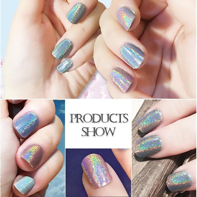 Hot Sale Holographic Nails Glitter Powder For UV Nail Gel Polish ...
