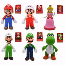 Big Size 22cm Super Mario Bros Mario Luigi Yoshi PVC Action Figure Model Doll Toys For Kids Gifts Free Shipping цена 2017
