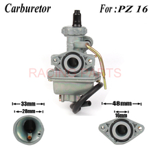 Motorcycle PZ16 16mm Carburetor For jh70 jc70 50cc 70cc 90cc ATV Quad Mini Bike Dirt Pit bike monkey