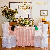 108 Round Peach Sequin Tablecloth, Sequin Wedding Tablecloth, Sequin Cake Tablecloth,Sequin Sweetheart Tablecloth