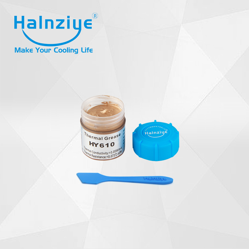 CPU&GPU Gold silicone Thermal Grease Heatsink Compound Thermal Paste 10g can tub jar HY610 20pcs with scraper