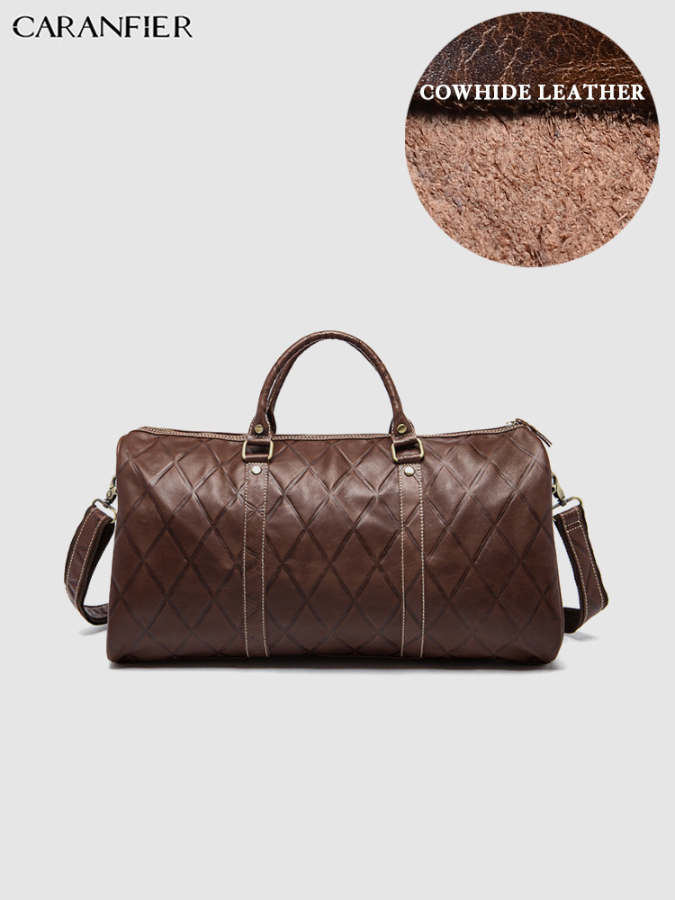 CARANFIER Mens Suitcases Travel Bags Larger Capacity Luggage Genuine Cowhide Leather Casual Male Handbags Shoulder Crossbody BagCARANFIER Mens Suitcases Travel Bags Larger Capacity Luggage Genuine Cowhide Leather Casual Male Handbags Shoulder Crossbody Bag
