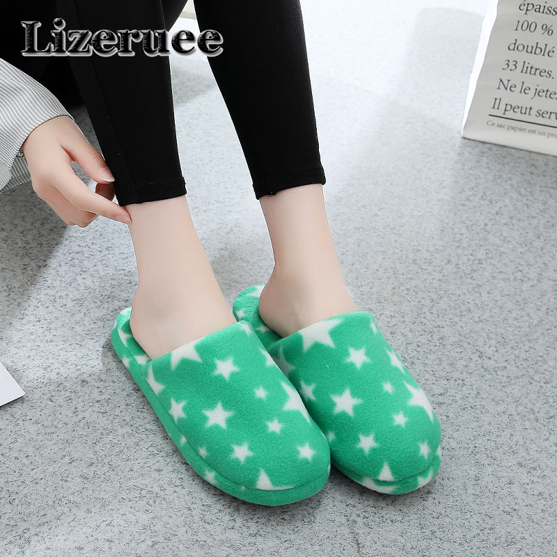 Candy color Warm Home Slippers Women Bedroom Winter Slippers Cute stars Indoor Slippers Cotton Floor Home Flax Shoes KS276 2016 home slippers women indoor floor flax slippers men breathable linen slipper home bedroom slippers women shoes awm116