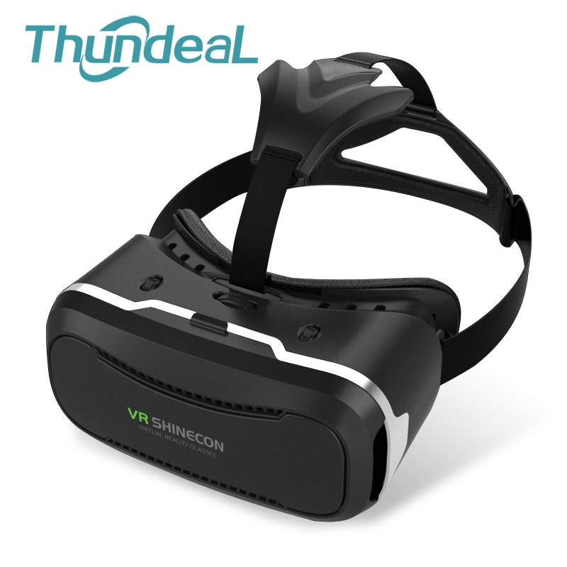3D VR Shinecon 2.0 3D Glasses Headset <font><b>Movie</b></font> Game VR Virtual Reality Cardboard Head Mount vr box For 4.7-6.0'' Phone + Gamepad image
