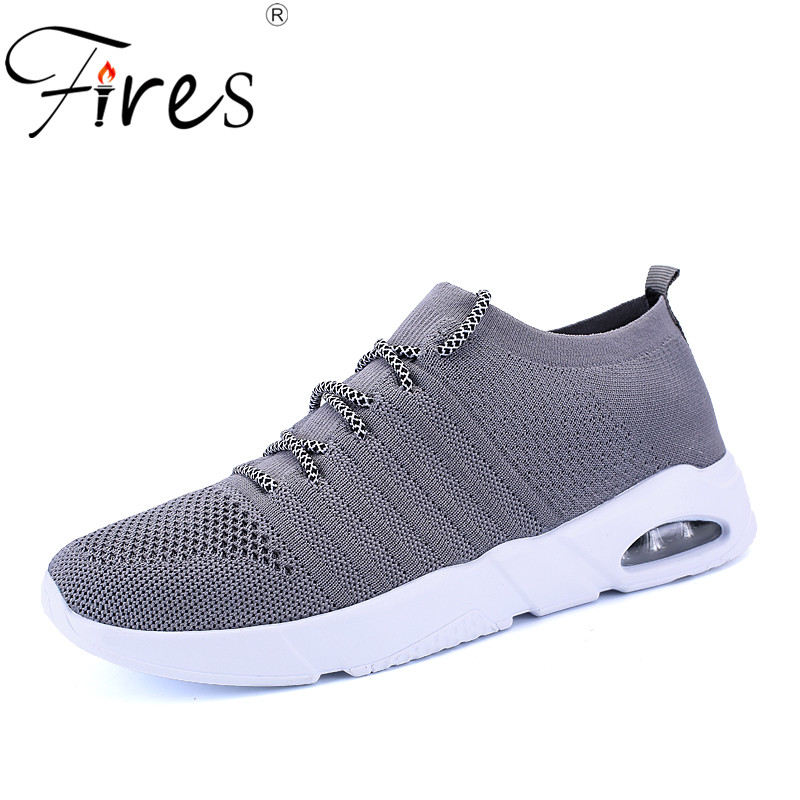 Fires Men Mesh Shoes Summer Fashion Casual Shoes Soles Lightweight Flat Shoes Comfortable Outdoor Male Loafer Shoes Zapatillas