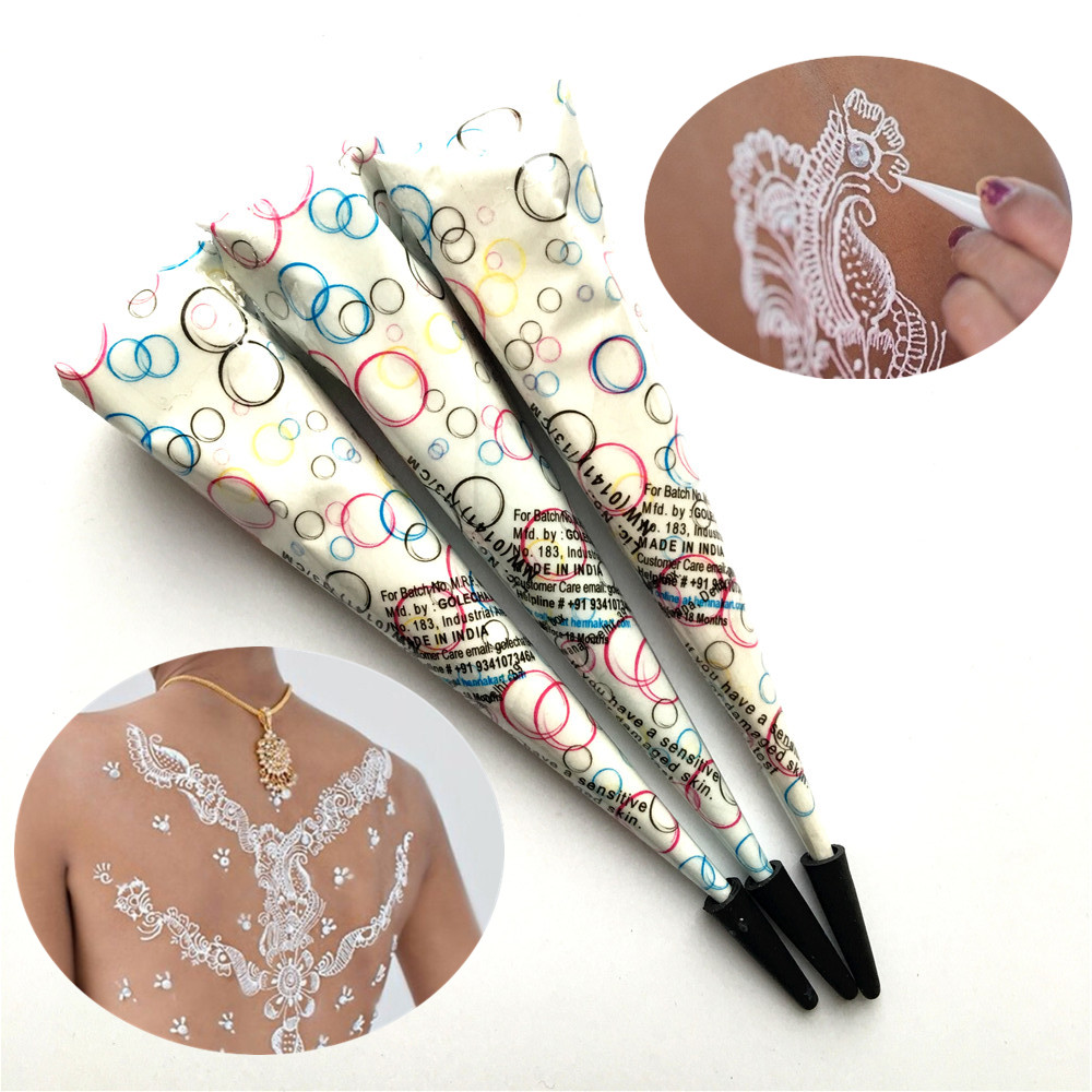 Henna Tattoo Paste Cost: Aliexpress.com : Buy 3PC/LOT White Ink Color Henna Paste