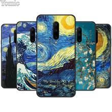 Soft Phone Case Shell for Oneplus 7 7 Pro 6 6T 5T Black Case for Oneplus 7 7Pro Silicone Cover paintings Starry Night Van Gogh