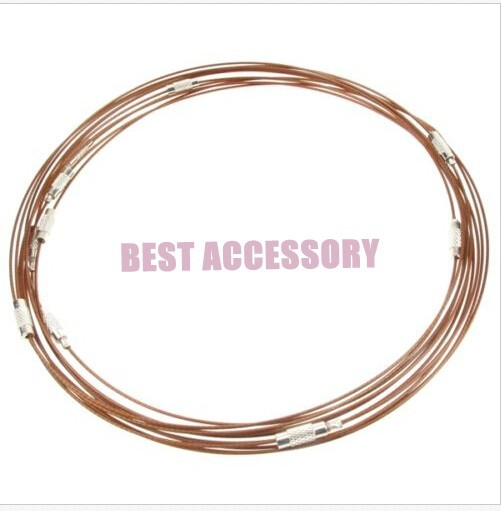 conew_memory wire cord necklace choker0085