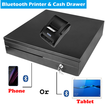 Free P.O.S Pos system Loyverse bluetooth Thermal Receipt Printer With Cash Drawer Support Android device connect