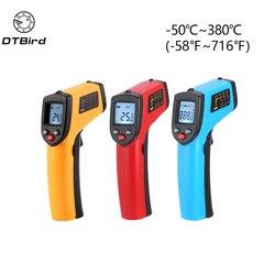 GM320 Digital Termômetro Infravermelho Sem Contato Termômetro Infravermelho Medidor de Temperatura Pyrometer IR Laser Ponto Gun-50 ~ 380 graus
