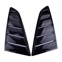 DWCX Side Black ABS Deflector Vent Window Scoop Louver Cover Trim Sticker Fit For Ford Mustang 2015 2016 2017 2018