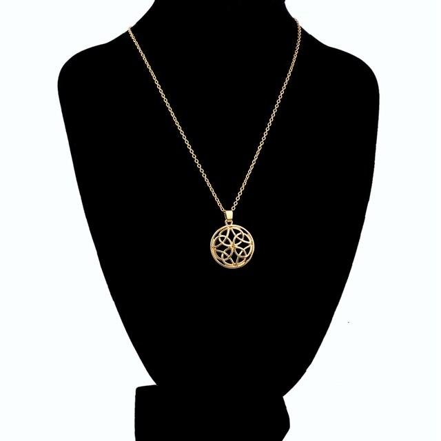 Фото chicvie золотое длинное ожерелье из смолы для женщин аксессуары