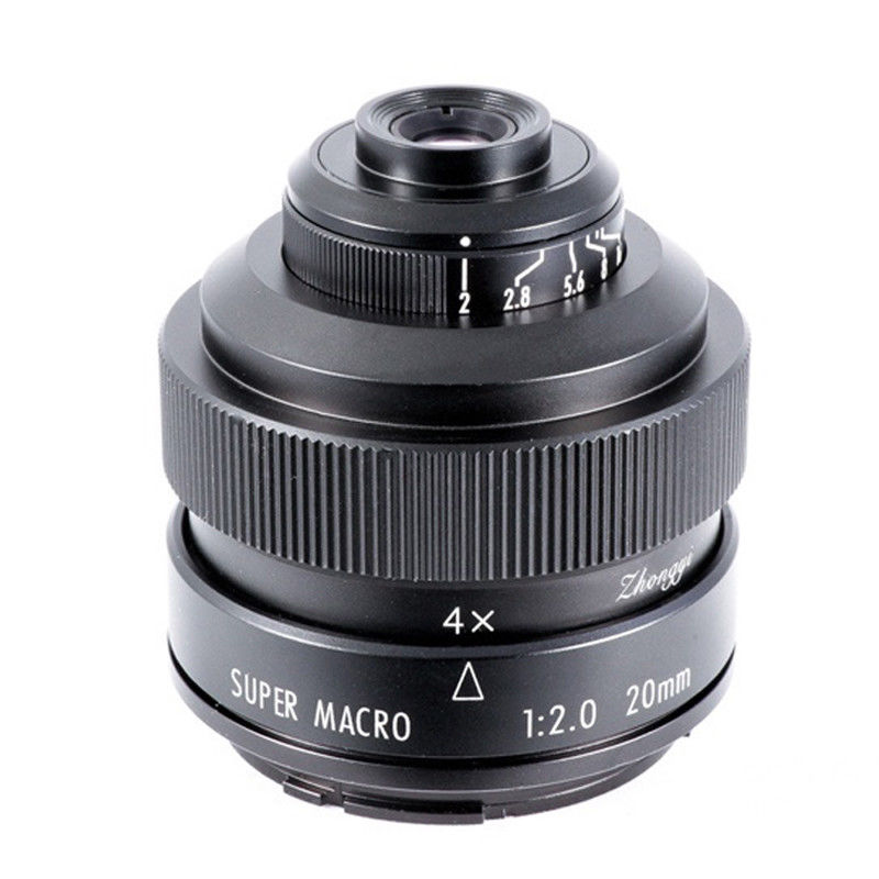 Mitakon Zhongyi 20mm F/2 4.5X Super Macro Lens For Canon EF EOS M Nikon F Sony E Pentax K M4/3 Fujifilm X  Sony Minolta A Mount