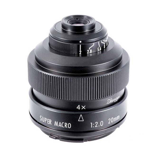Mitakon Zhongyi 20mm f/2 4.5X סופר מאקרו עדשה עבור Canon EF EOS M ניקון F Sony E pentax K M4/3 Fujifilm X Sony Minolta הר