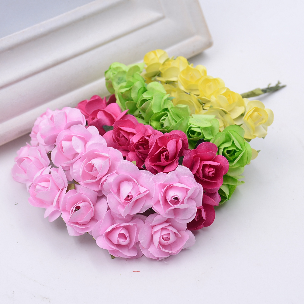 144pcsbag mini paper rose artificial flowers bouquet for wedding 144pcsbag mini paper rose artificial flowers bouquet for wedding craft decoration diy wreath box accessories garland supplies in artificial dried flowers izmirmasajfo