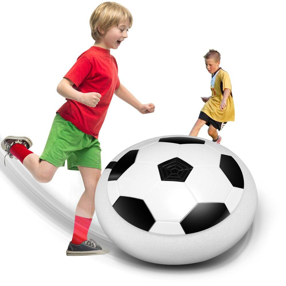 Heißer Schweben Ball LED Licht Blinkt Ankunft Air Power Fußball Ball Disc Innen Fußball Spielzeug Multi-oberfläche Schweben Und gleiten Spielzeug