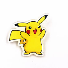 1Pcs Pokemon Pikachu Kawaii Anime Acrylic Badges for Backpack shoes Brooches Pins on coat Hot sell Kids memento cute thing(China)