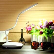Flexible USB LED Desk Lamps Table Lamp Study Reading Lamp USB Rechargeable Led Touch Luminaria Lapara