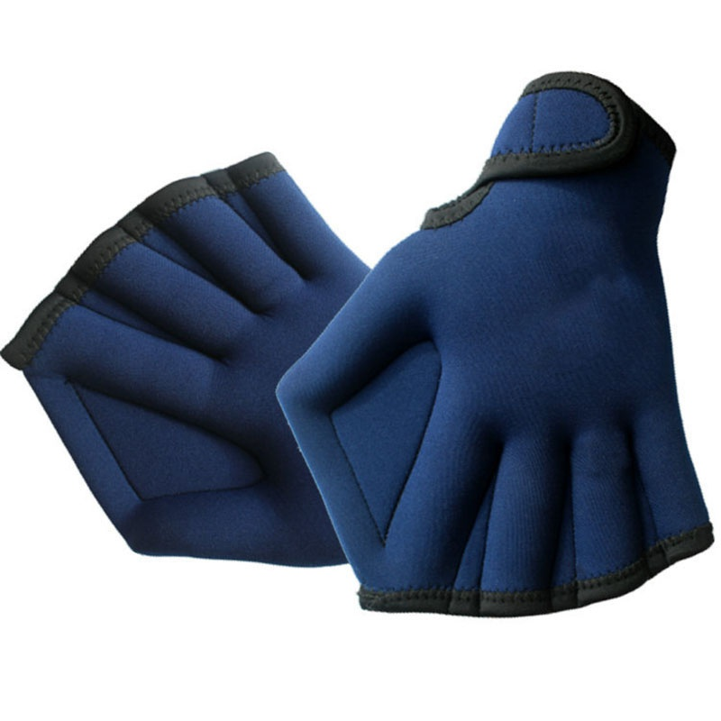 1 Pair 2MM Sphere Swimming Webbed Gloves Flipper Surfing Swimming Sports Paddle Training Fingerless Gloves SurfingTool