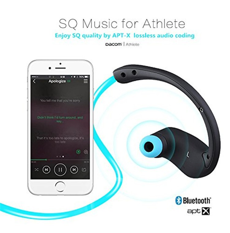 Dacom NFC Cordless Ear Hook Sport Bluetooth 4.1 earpiece Sweatproof Wireless Hifi Bass Headphones With Microphone (6)