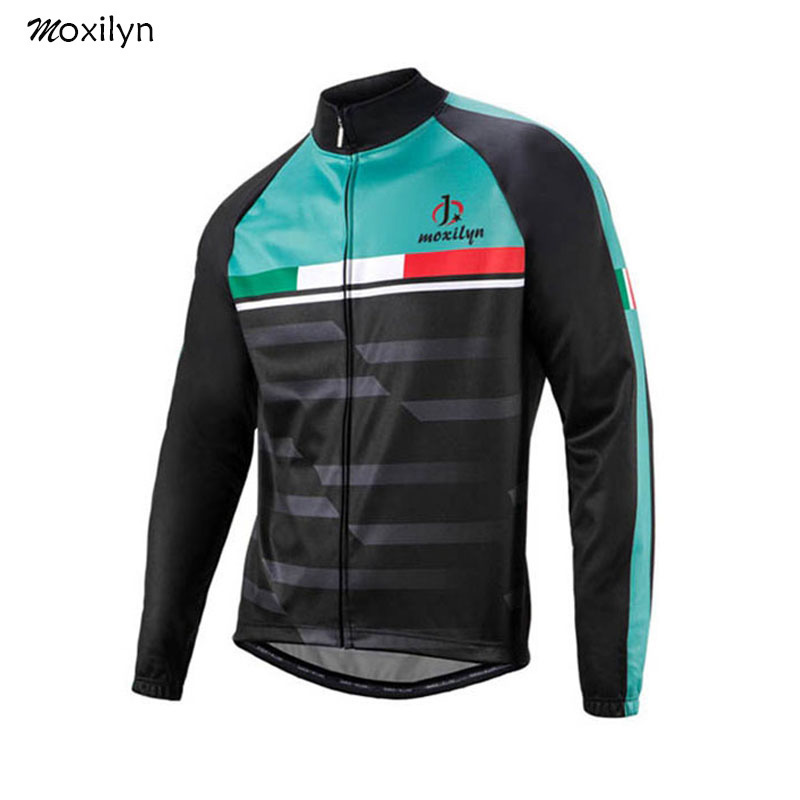 Moxilyn Biking Jersey Prime Lengthy Sleeve Breathable Spring For Males Roda Bike Biking Put on Maillot Ciclismo Garments Blue And Black