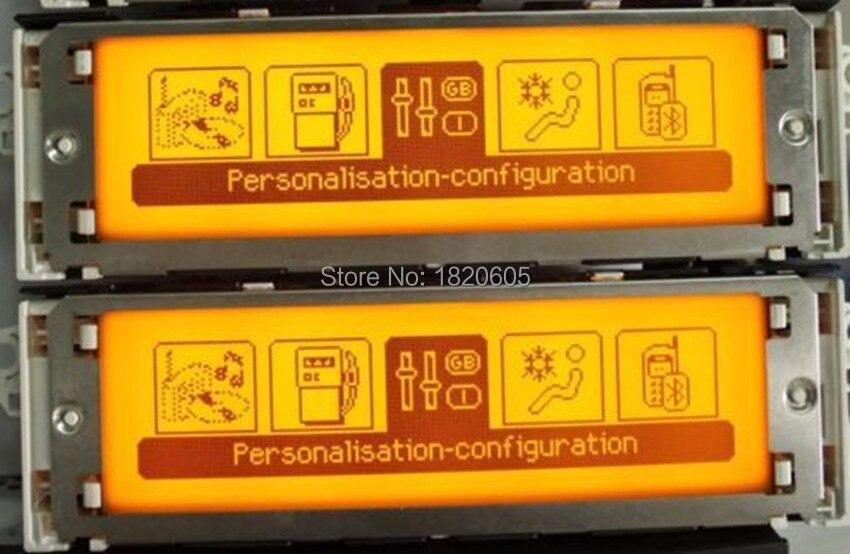 Support d'écran USB double-zone Air Bluetooth affichage jaune moniteur 12 broches pour Peugeot 307 407 408 pour citroën C4 C5 écran - 2