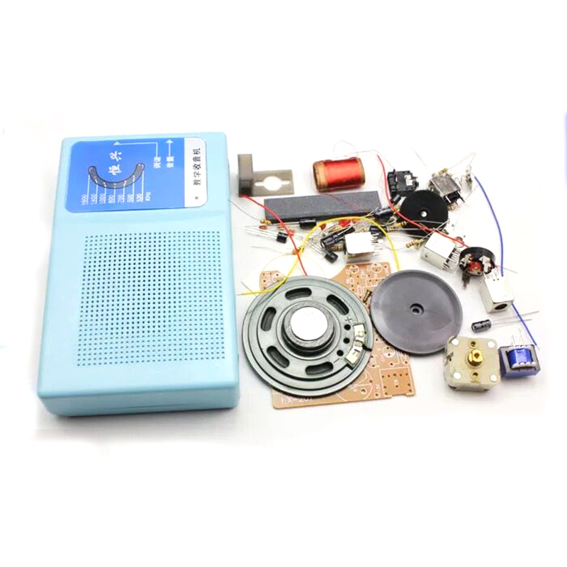 New Superheterodyne Radio Receiver Board DIY Kits 7 Transistor + Sch + Case W/ Speaker DIY Kits