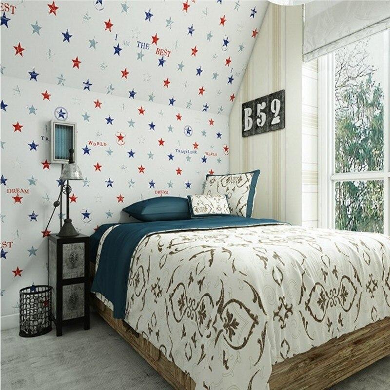 Livraison gratuite Vertical rayé papier peint britannique chambre salon étage complet papier peint entrant lumière fond d'écran