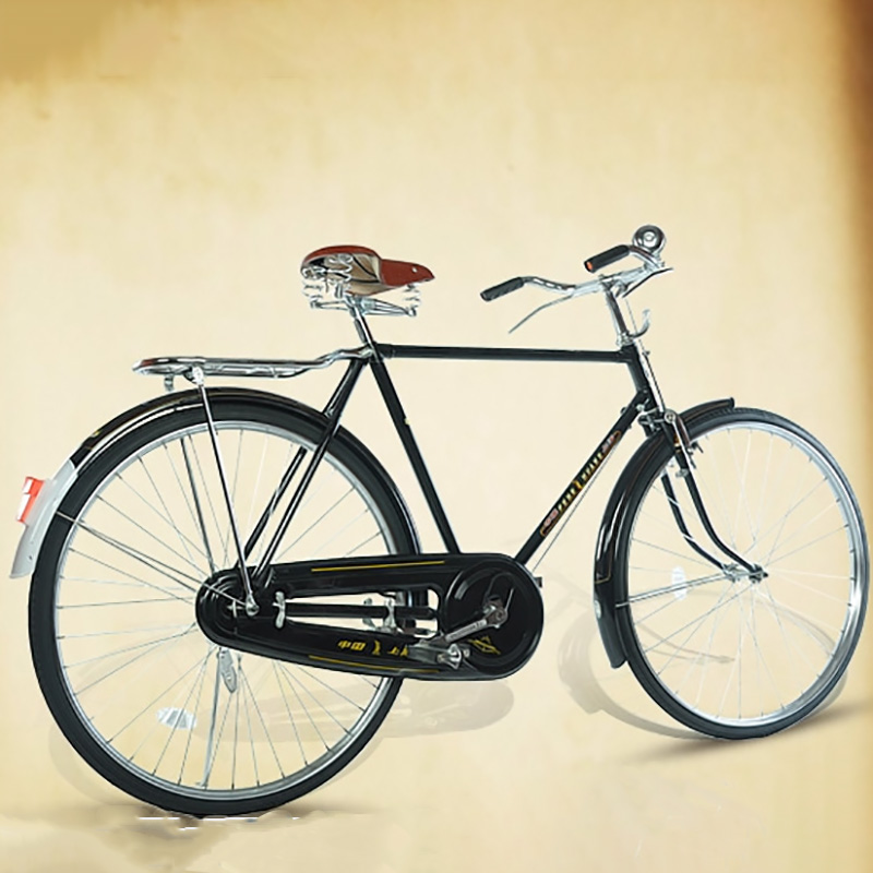 Retro Bicycle Literary And Vintage Car High Quality Carbon Steel 26 Inches Seat With Rear Seat Adult Bicycle