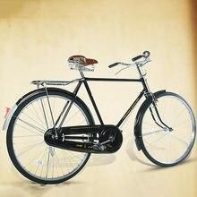 Retro bicicleta literária e vintage carro de alta qualidade aço carbono 26 polegadas assento com assento traseiro adulto bicicleta