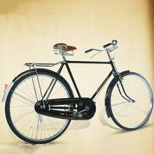 Bicicleta Retro literaria y vintage coche acero al carbono de alta calidad asiento de 26 pulgadas con asiento trasero bicicleta para adultos