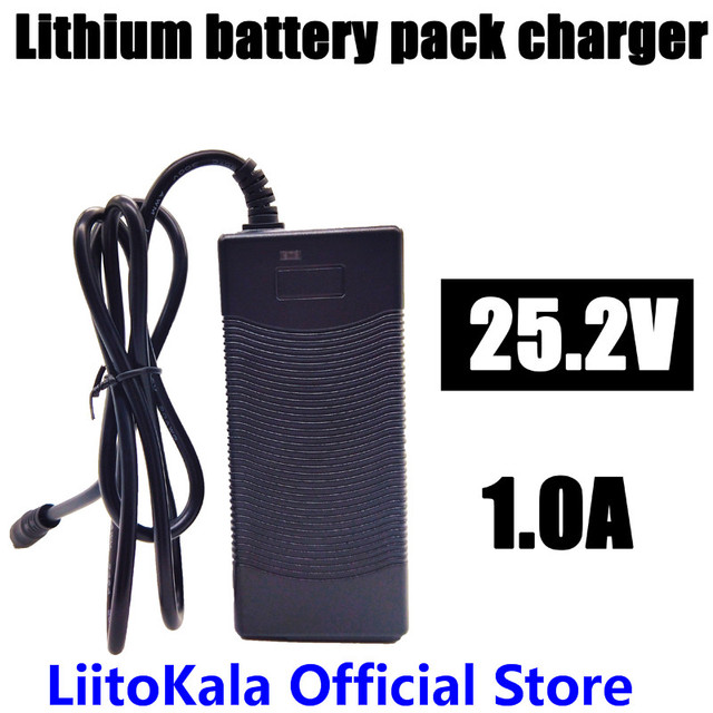 HK LiitoKala High quality 25.2V 1A battery pack charger Electric vehicles dedicated charger 24V 1A Polymer 18650 charger