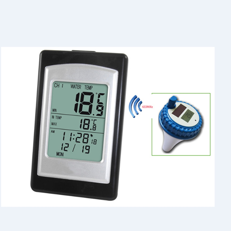 Professional Digital Wireless Swimming Pool SPA Floating Temperature Meter Solar Spa Thermometer 3 Channels Time Alarm Calendar professional wireless digital swimming pool spa floating thermometer wireless indoor and outdoor pool spa hot tub thermometer