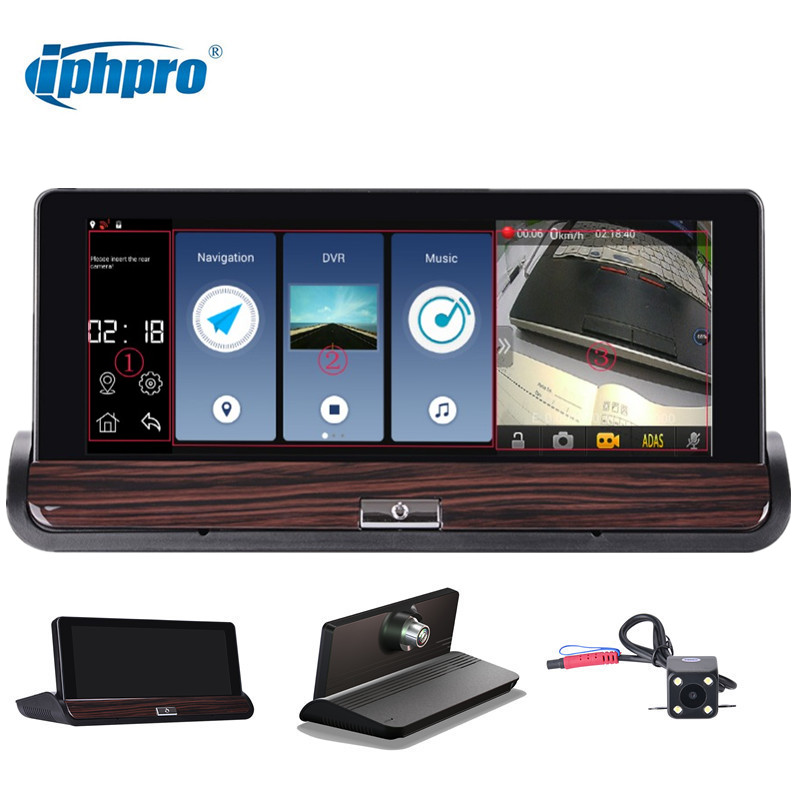 Iphpro 3G&Wifi GPS Navigation Android 4.4 Car Dvr Camera Dual lens smart ADAS FHD 1080P Rear View Camera Night Vision Dash Cam yatour car adapter aux mp3 sd usb music cd changer cdc connector for toyota 4runner avalon vitz yairs mark x matrix radios