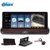 Iphpro 3G Wifi GPS Navigation Android 4 4 Car Dvr Camera Dual Lens Smart ADAS FHD